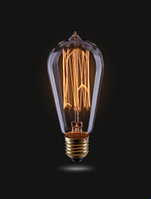Ретро-лампа VOLTEGA ST58 (винтажная колба) 60W E27 (янтарь нити)