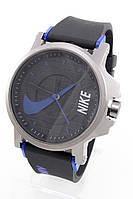 Наручные спортивные часы Nike, Найк черные с синим