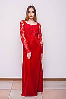 Платье красное бархатное