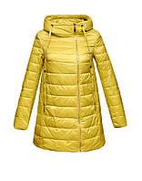 Куртка Clasna удлиненная с капюшоном трапеция желтая