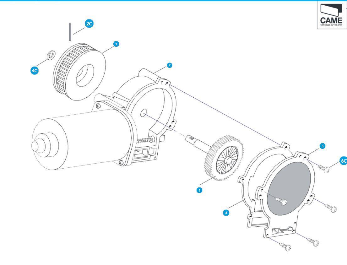Электродвигатель к автоматическим дверям Corsa Came 119RIP118