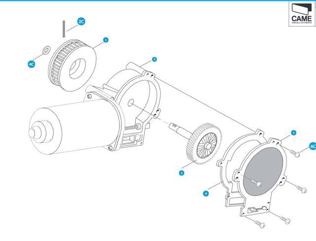Электромотор для автоматических дверей САМЕ RIP118