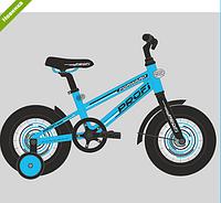 Велосипед двухколёсный детский 14 дюймов Profi Forward T1474 голубой