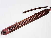 Патронташ кожаный открытый на 24 патр.(для 12,16к), фото 1