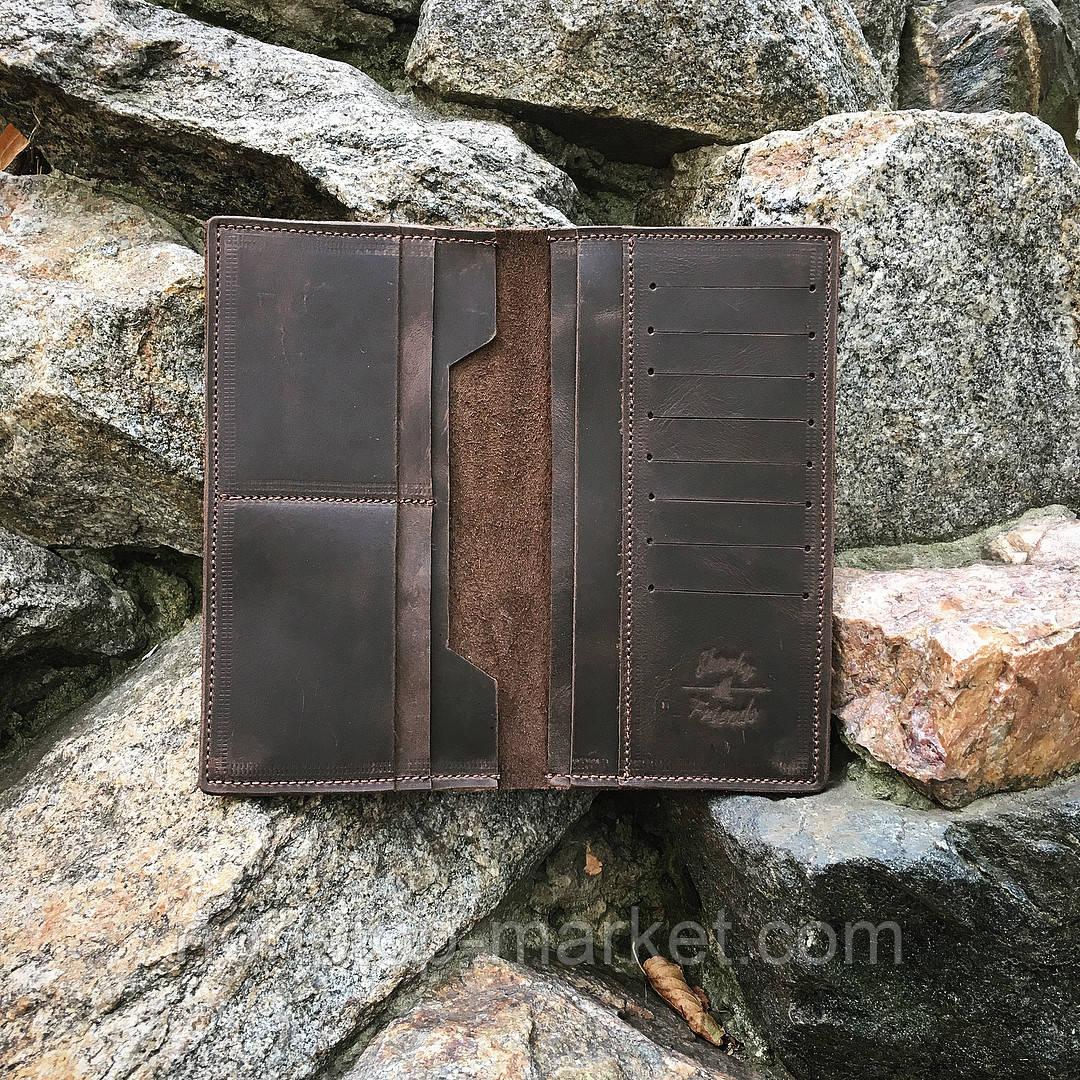 348f4cbf7412 Мужской кожаный кошелек ручной работы Мани Brown, Sharky Friends -  Nonstop-Market в Днепре