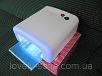 УФ лампа для наращивания ногтей на 36 Вт с таймером, все регионы Украины, самая дешевая цена.розовая и белая