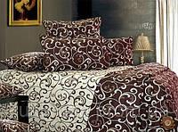 Семейный комплект постельного белья Шоколадный Завиток