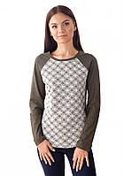 Модный пуловер KL 065 с кружевом (размеры S-XL)
