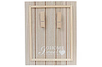 Доска деревянная с прищепками для записей, 24х30см