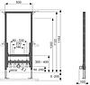Модуль ТЕСЕ для подвесного биде 1120мм+Комплект шпилек +прокладка+Olympia биде подвесное, фото 1