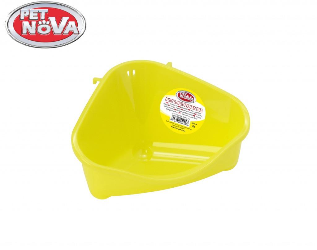 Кутовий лоток Pet Nova маленький ( жовтий )