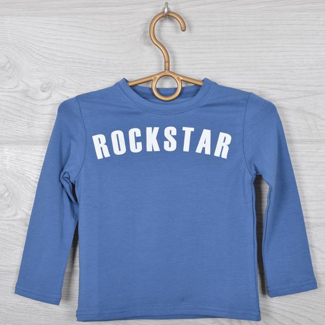 """Батник детский """"RockStar"""" для мальчиков. 2-6 лет (92-116 см рост). Джинс. Оптом."""
