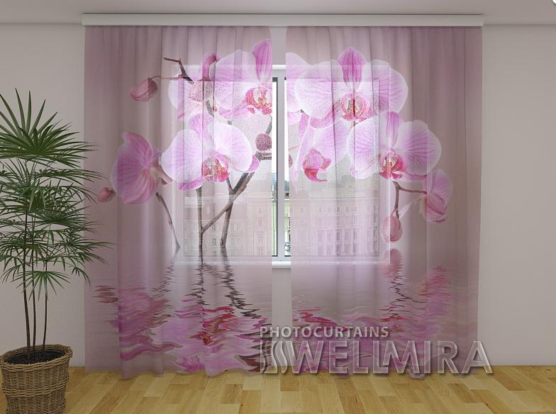 ФотоТюль Лилейная орхидея 250 см х 260 см