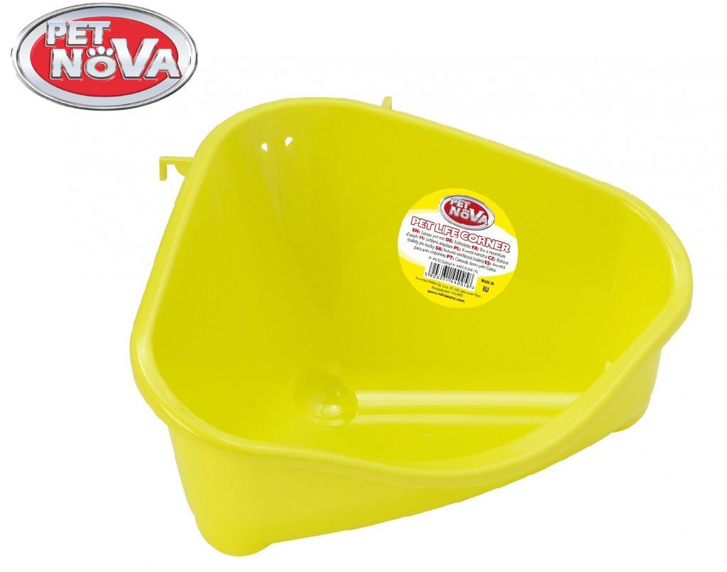 Угловой лоток Pet Nova средний ( желтый )