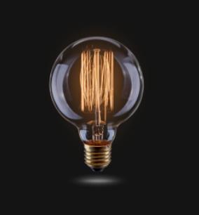 Ретро-лампа VOLTEGA G95 (винтажная колба) 60W E27 (янтарь нити)