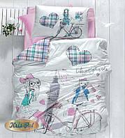 """Хлопковый комплект постельного белья для девочек """"Приветики"""""""
