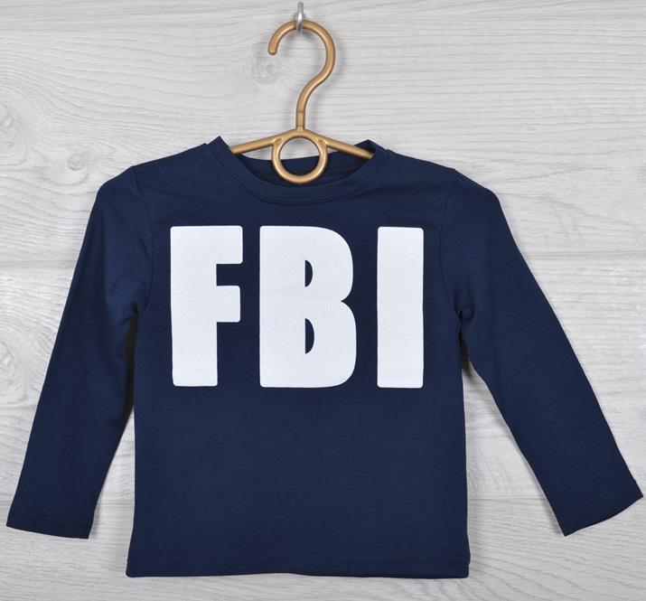 """Батник детский """"FBI реплика"""" для мальчиков. 2-6 лет (92-116 см рост). Темно-синий. Оптом."""