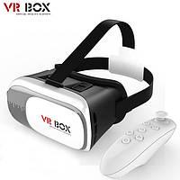 Шлем виртуальной реальности очки VR Box 3D Virtual VR Box с пультом управления  2-го поколения для Android/IOS, фото 1