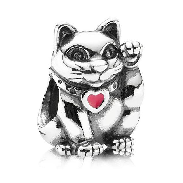 Шарм бусина Pandora Пандора Счастливый Кот