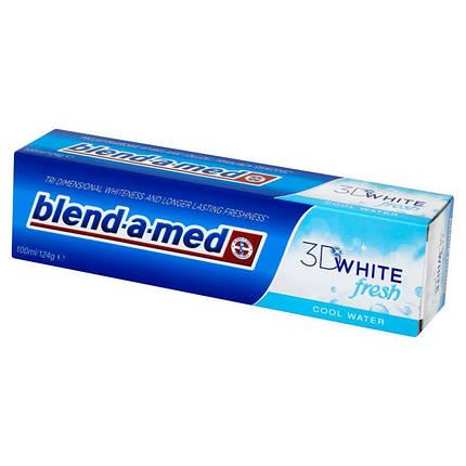 Зубна відбілююча паста Blend-a-med 3D WHITE Fresh cool water, фото 2
