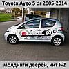 Молдинги на двери Toyota Aygo 5 dr 2005-2014