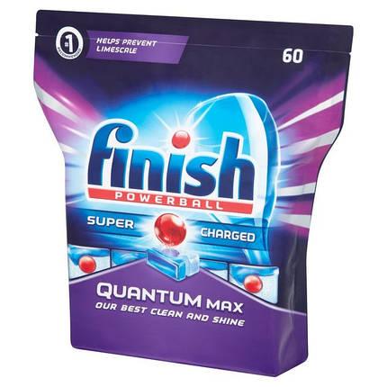 Таблетки для посудомийних машин Finish Quantum MAX 60 шт, фото 2