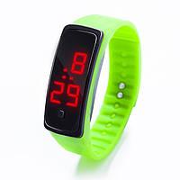 Спортивные силиконовые часы-браслет LED мята SW2-09