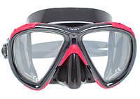 Подводная маска Marlin Twist; чёрный силикон; чёрно-красная рамка