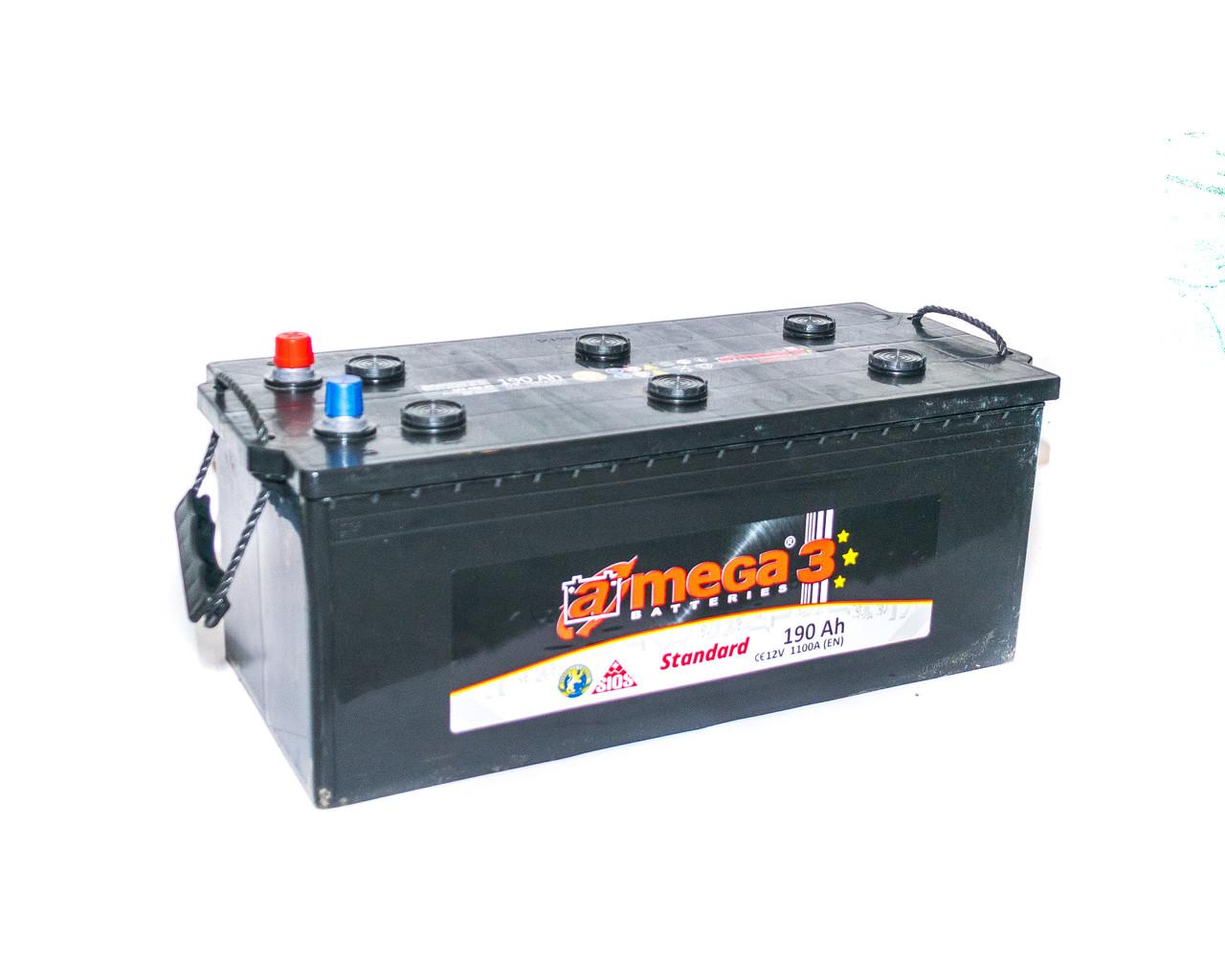 Аккумулятор автомобильный  6СТ-190Ач. 110А. A-MEGA Standart (M3)