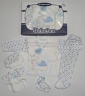 Подарочный набор для новорожденного  5 предметов  Голубой