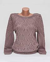 Кофта свитер Джемпер вязаный Ева р.46-48 F1-11