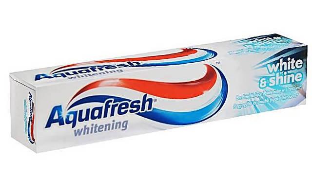 Зубна паста з відбілюючим ефектом Aquafresh white & shine 100 ml., фото 2