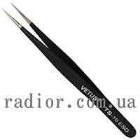 Пинцет радиотехнический ESD, Vetus TS-10 (12-0565)
