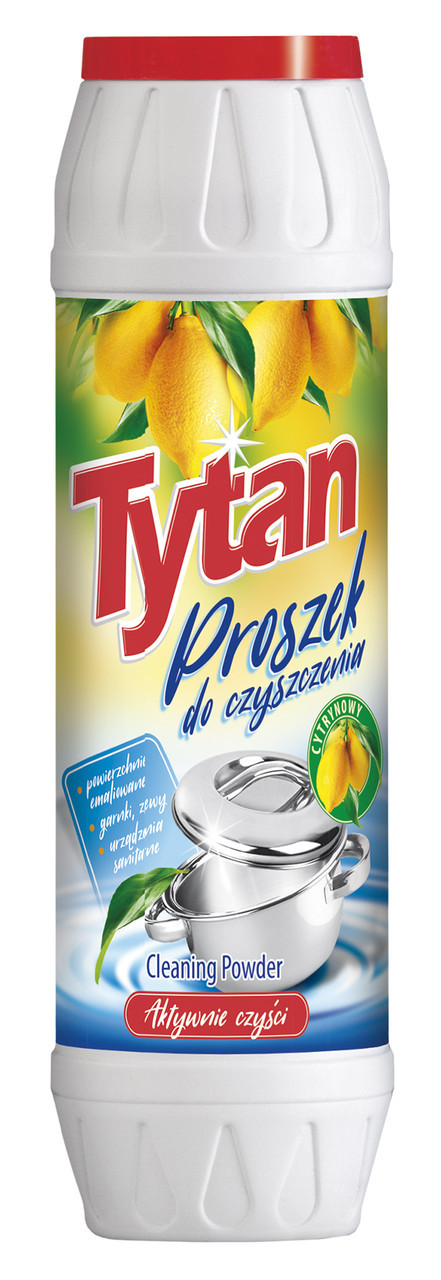Порошок для чищення посуду та каструль Tytan цитрус 500 г.