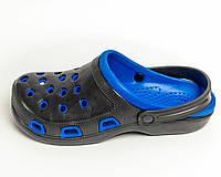Сабо мужские синие оптом Крок