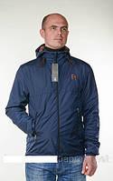 Мужская, молодежная демисезонная куртка - ветровка Reebok больших размеров  р- 42,44,46,48,50,52,54,56 синяя
