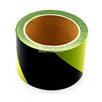 Лента сигнальная желто-черная 100м