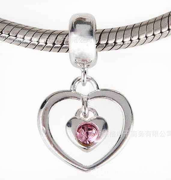 Шарм бусина Pandora Пандора Подвеска Сердечки