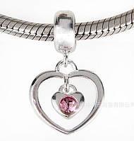 Шарм бусина Pandora Пандора Подвеска Сердечки, фото 1