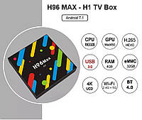 SMART TV Box H96 Max H1 1.5 GHz 4Gb /32 Gb