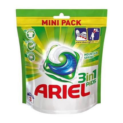 Капсули для прання ARIEL Pods Moutain Spring 3 шт., фото 2