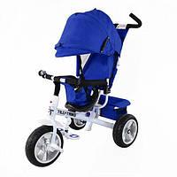 Велосипед трехколесный Tilly Trike T-371 на бескамерном колесе, синий