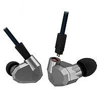 Наушники Knowledge Zenith ZS-5 с микрофоном. Закрытые, внутриканальные. Серые