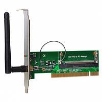 Адаптер PCI - Mini PCI ( Wi-Fi 54108 b-g-n, мет.планка крепления, внешняя антена 2 dB RP-SMA)