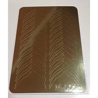 Металлизированные наклейки для фигурного френча CANNI золото  М -001