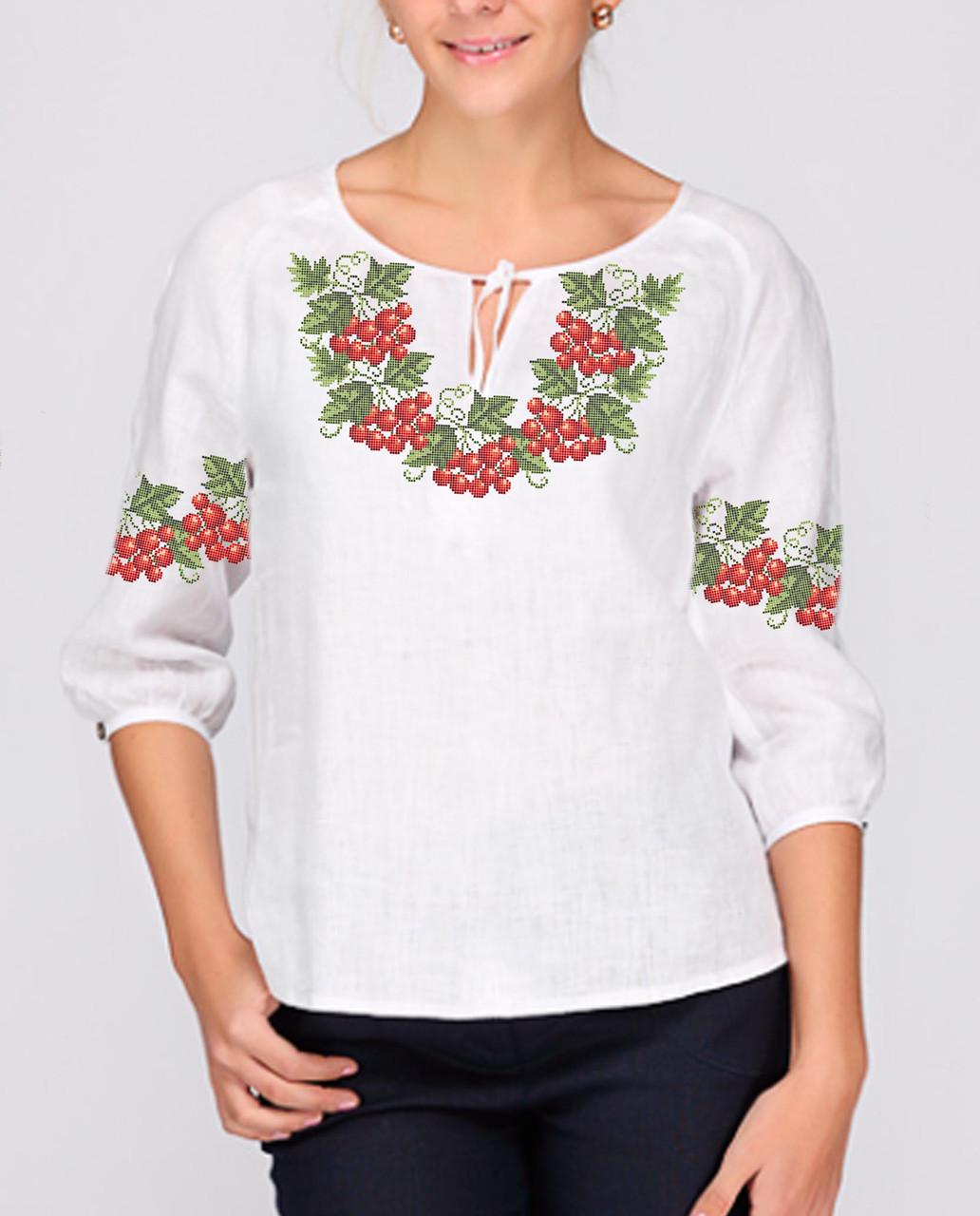 Заготовка вишиванки жіночої сорочки та блузи для вишивки бісером Бисерок «Україночка» (Б-78 )