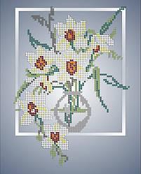 Схема для вишивки та вишивання бісером Бисерок квіти «Орхідеї» (A4) 20x25 (ЧВ-3034)