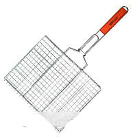 Решетка барбекю двойная плоская, для гриля, размеры 60х36х30
