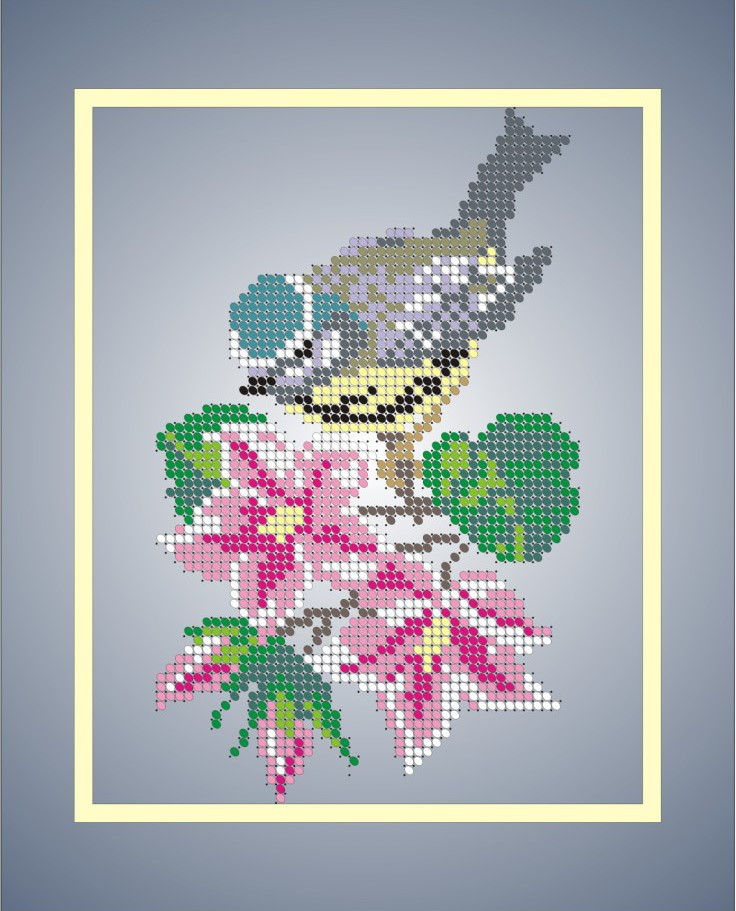 Схема для вишивки та вишивання бісером Бисерок «Синичка» (A4) 20x25 (ЧВ-3032)