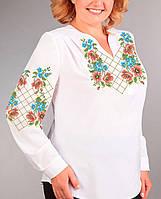 Заготовка вишиванки жіночої сорочки та блузи для вишивки бісером Бисерок  «Гра квітів» (Б 1bba33a1a7cb9
